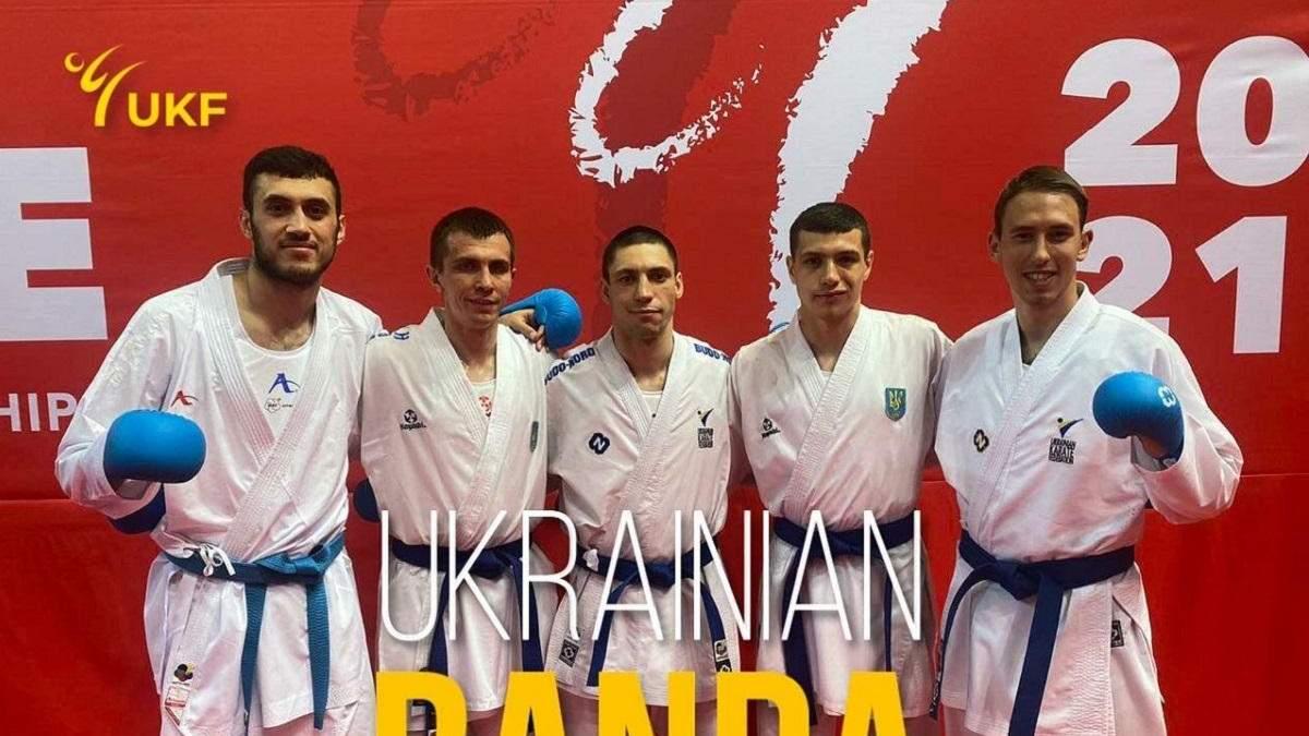 Мужская сборная Украины по каратэ завоевала бронзу чемпионата Европы