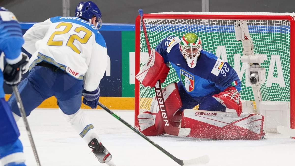 Казахстан закинув 11 шайб у ворота Італії на чемпіонаті світу з хокею – відео