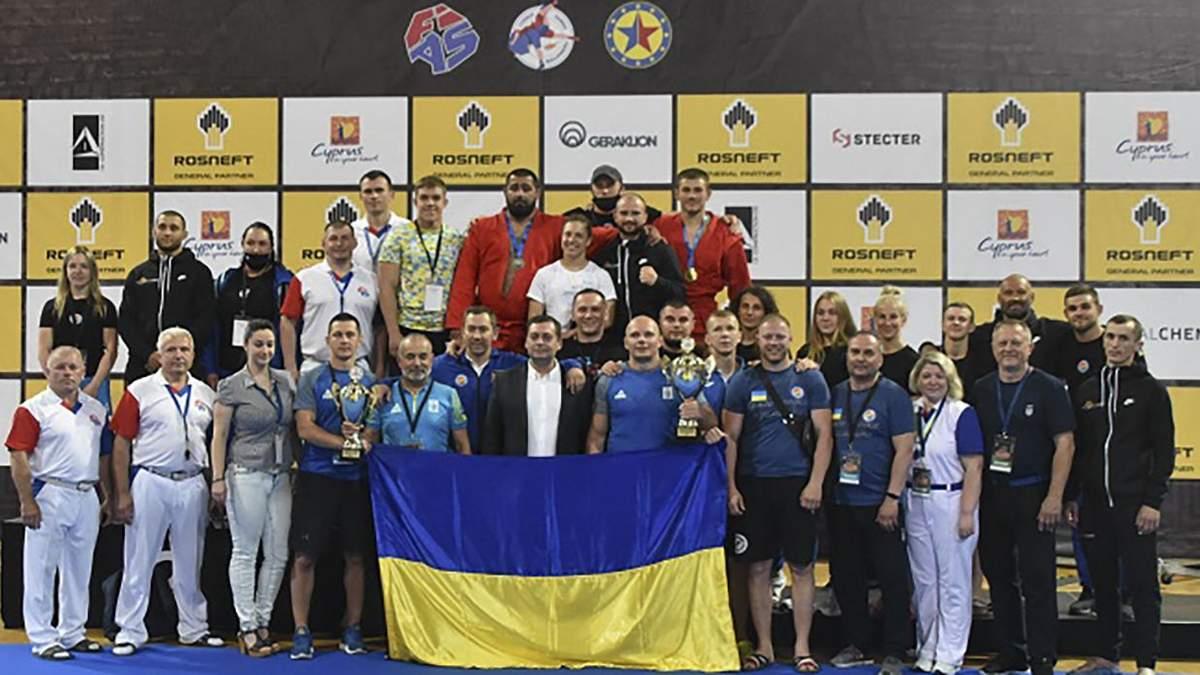 Україна завоювала 14 медалей на чемпіонаті Європи з самбо