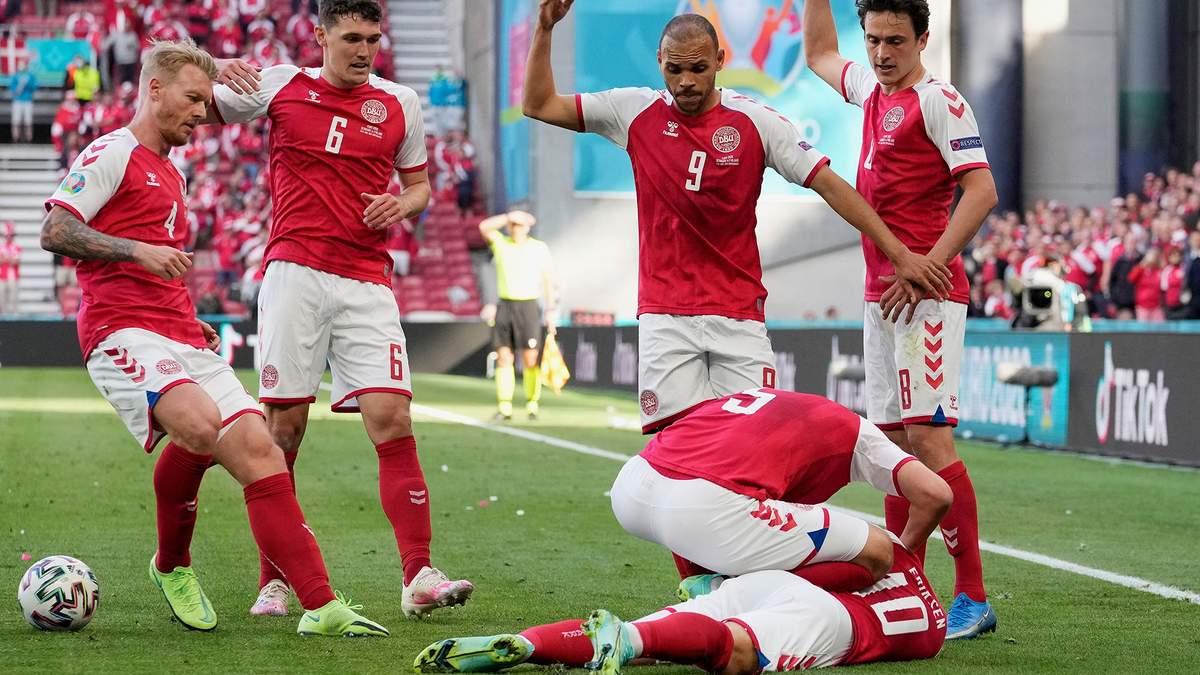 Эриксен потерял сознание на матче Дания - Финляндия