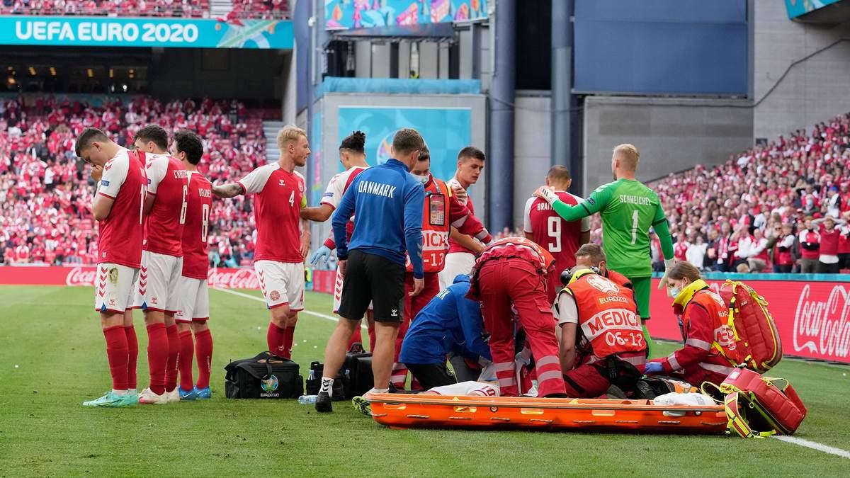 Эриксен потерял сознание во время матча Евро-2020: как сейчас чувствует себя датский футболист