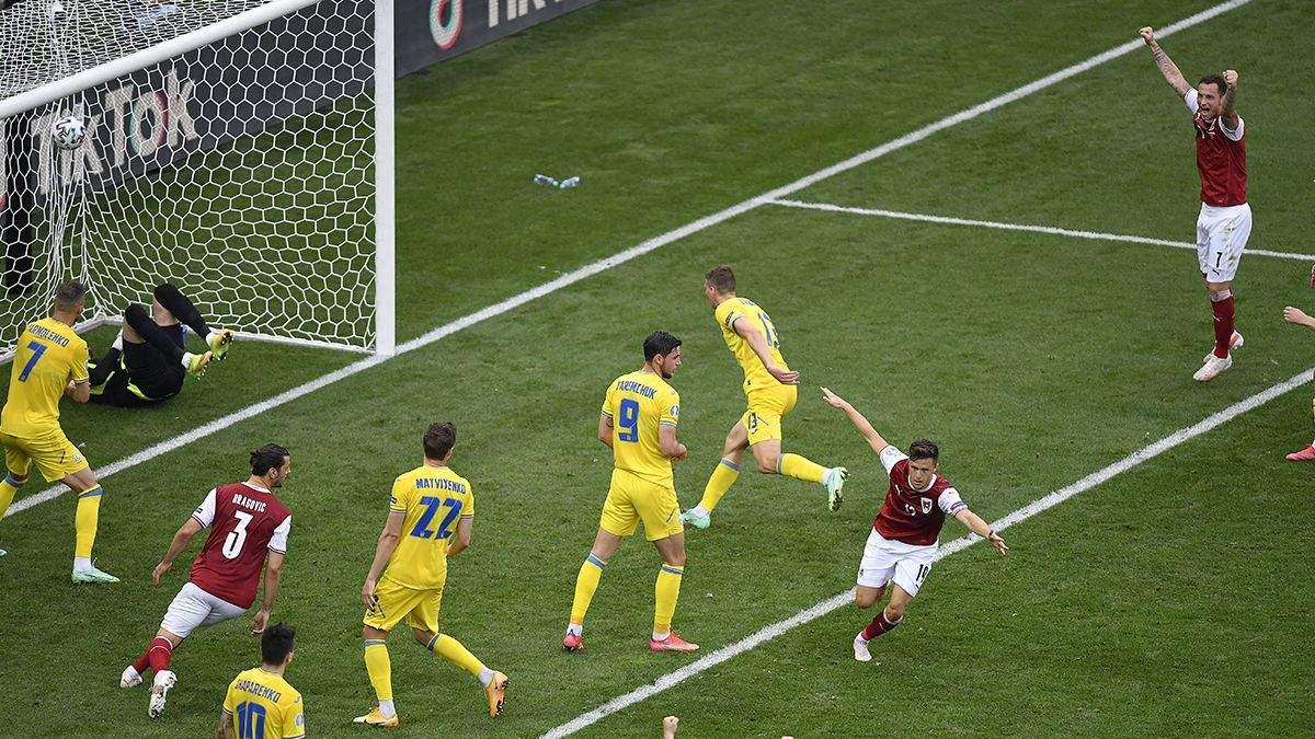 Украина – Австрия – результат, счет матча Евро 2020