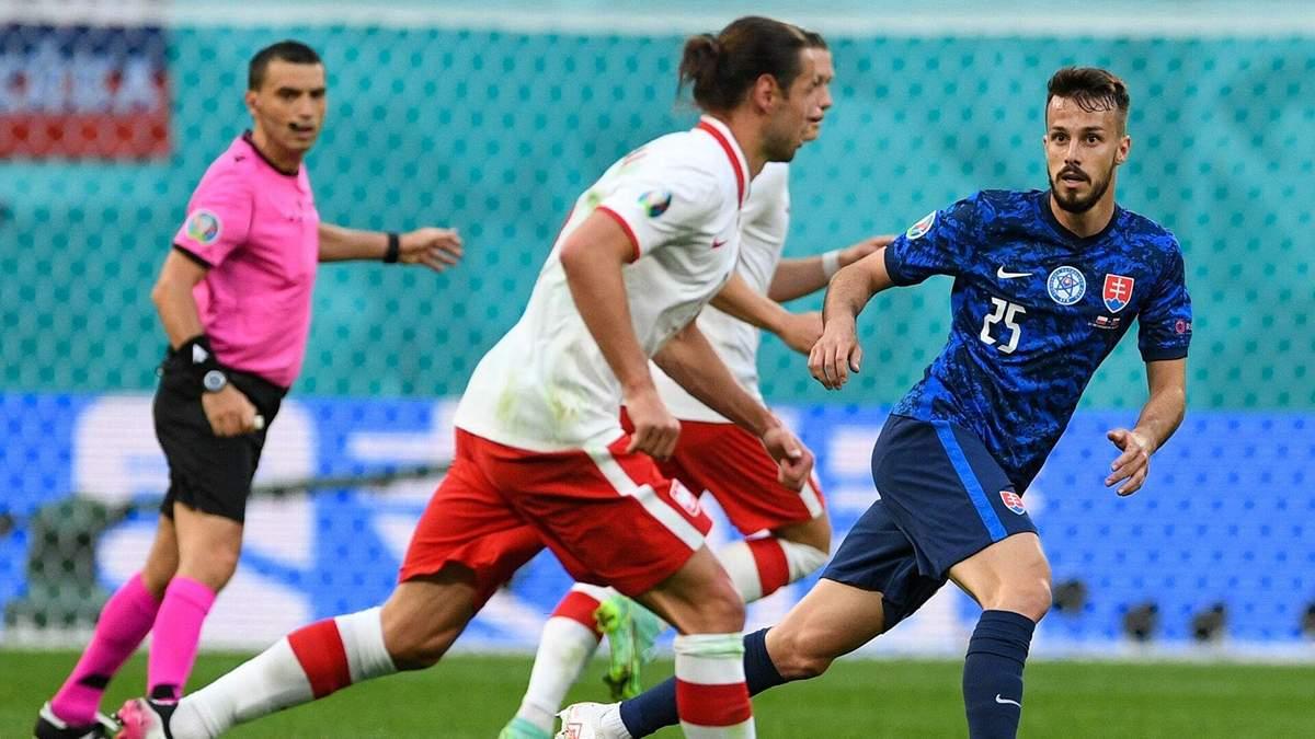 Перше вилучення на Євро-2020: як футболіст Польщі заробив червону картку – відео
