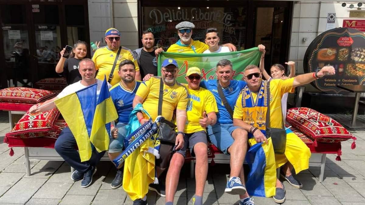 Украинские болельщики уже второй матч подряд заполонили Бухарест