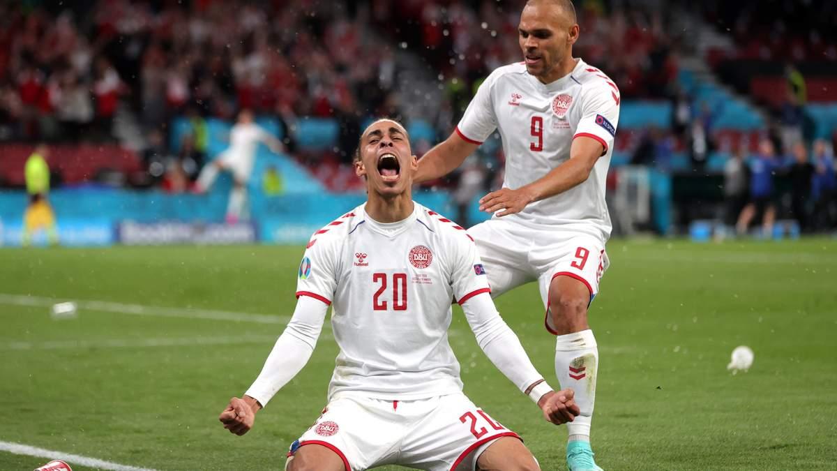 Юссуф Поульсен забив гол у матчі Росія - Данія на Євро-2020