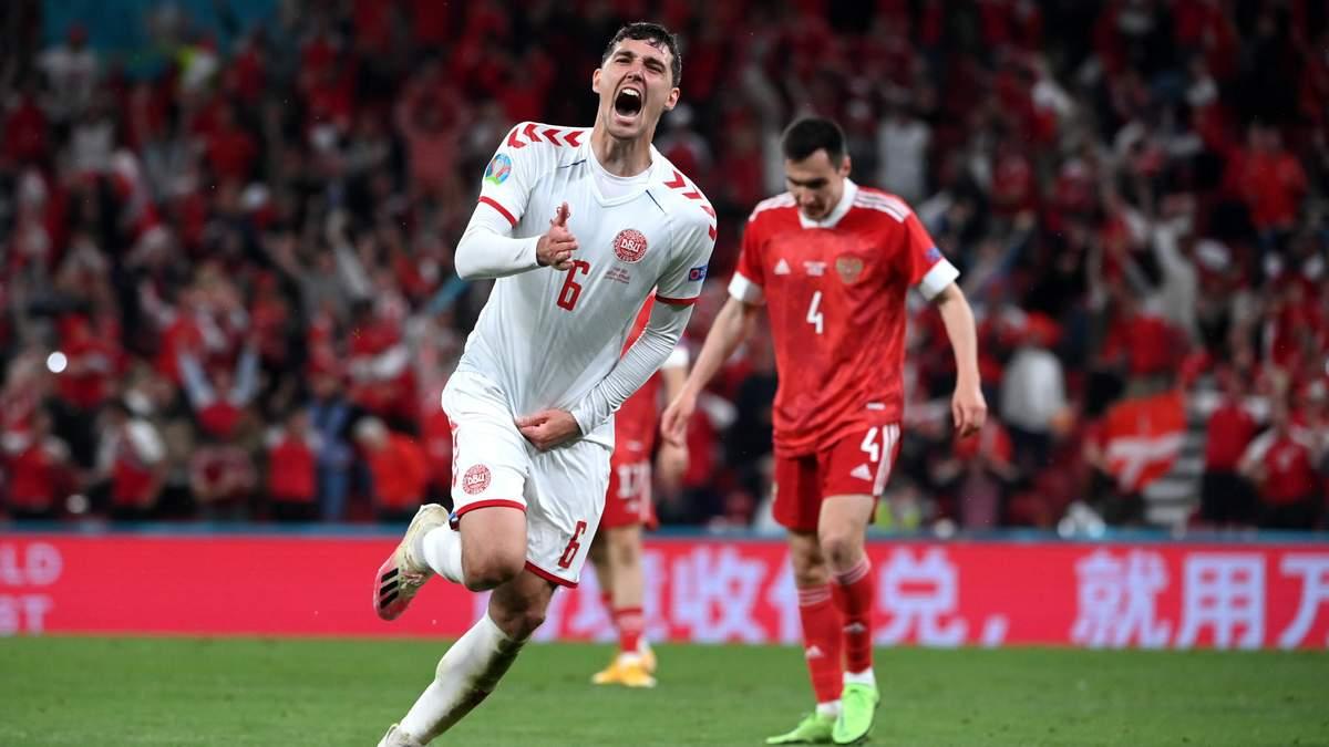 Андреас Кристенсен забил сумасшедший гол в матче Россия - Дания: видео
