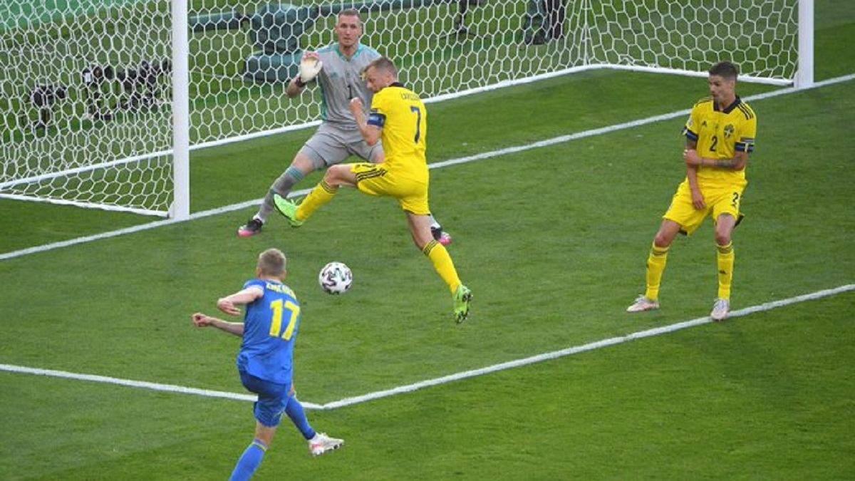 Зінченко побив рекорд у матчі зі Швецією на Євро-2020: деталі