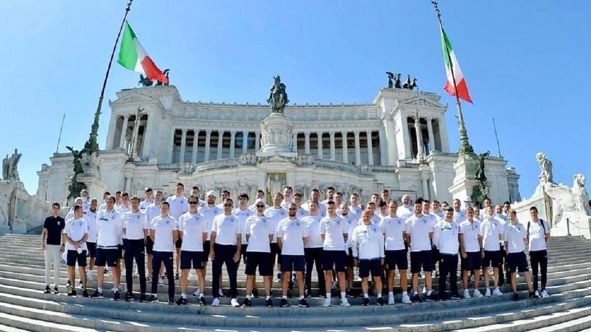 Збірна України прогулялася по Риму перед Англією – фото
