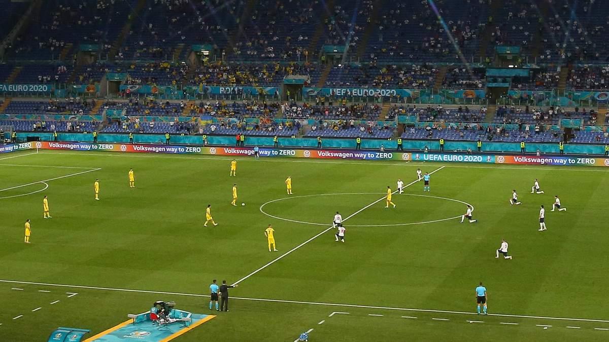 Евро-2020: Украина проигнорировала акцию Black Lives Matter перед матчем против Англии