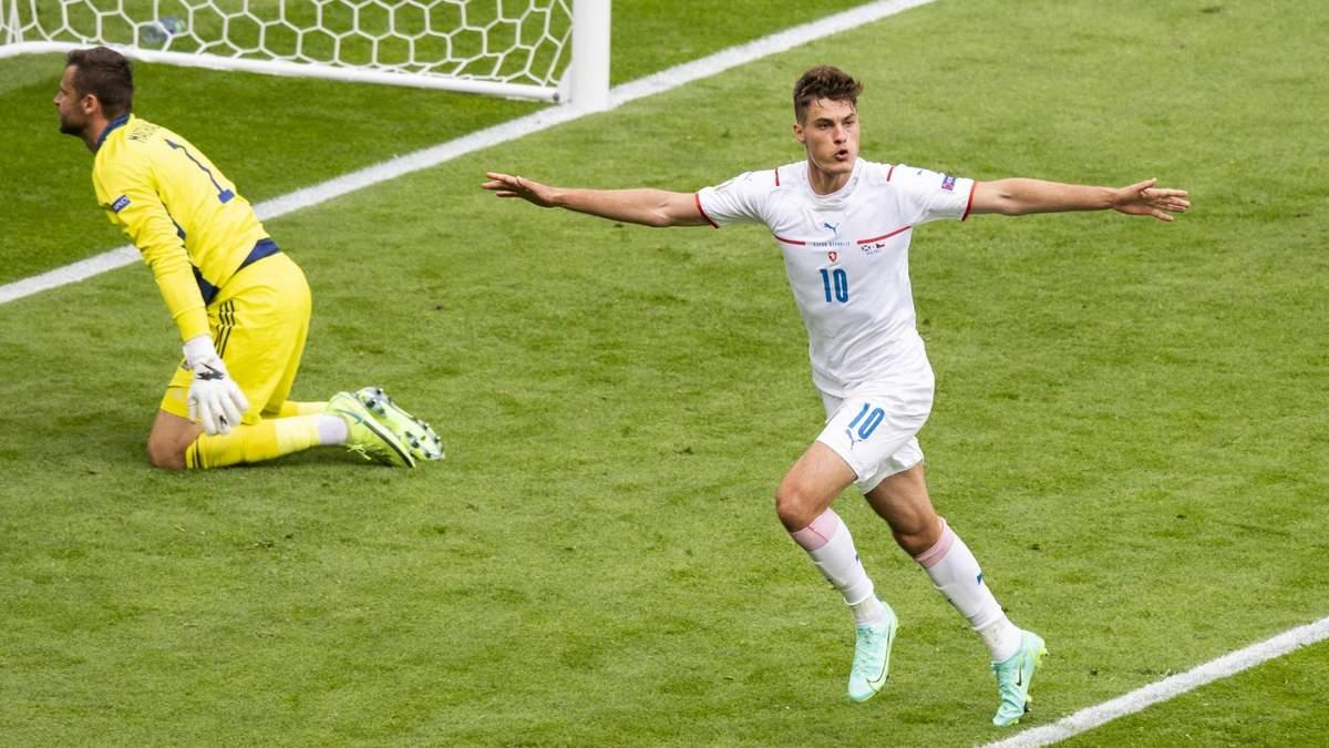 Гол Патрика Шика в ворота Шотландии признан лучшим на Евро 2020: видео