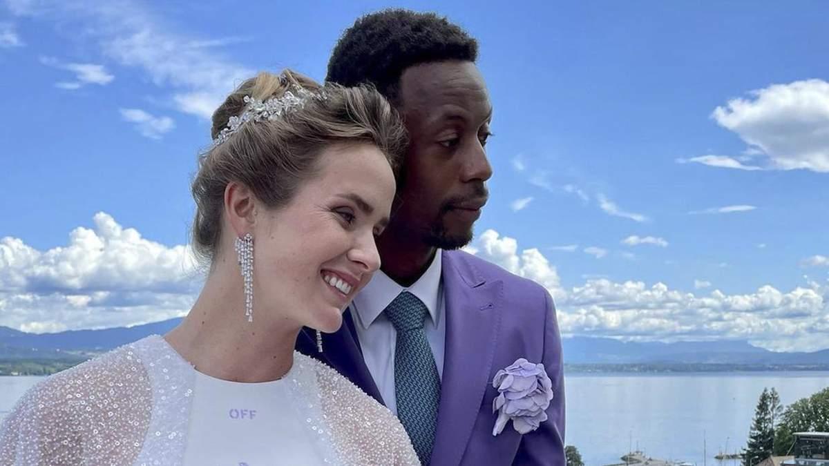 Еліна Світоліна вийшла заміж за Монфіса: перші фото з весілля