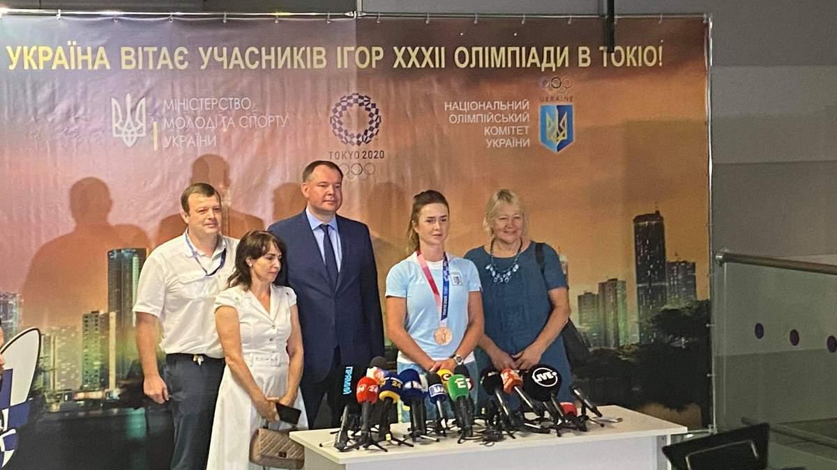 У Києві зустріли бронзову призерку Олімпіади Еліну Світоліну