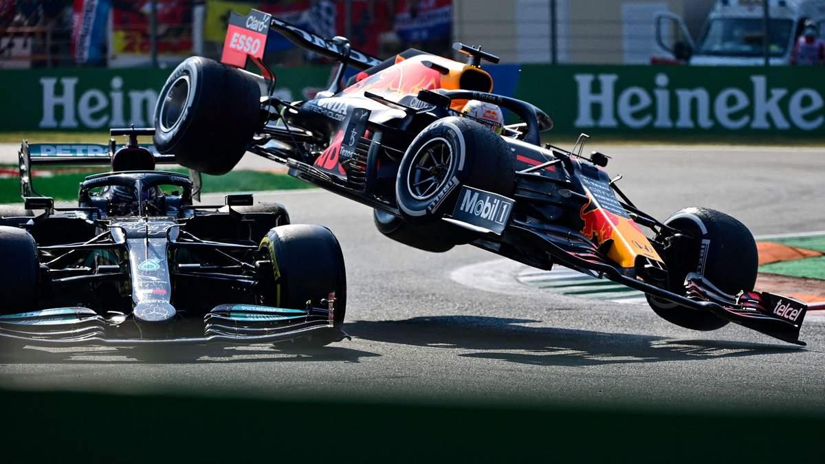 Ферстаппен отримав суворий штраф за страшну аварію з Хемілтоном - Формула 1 новини - Спорт 24