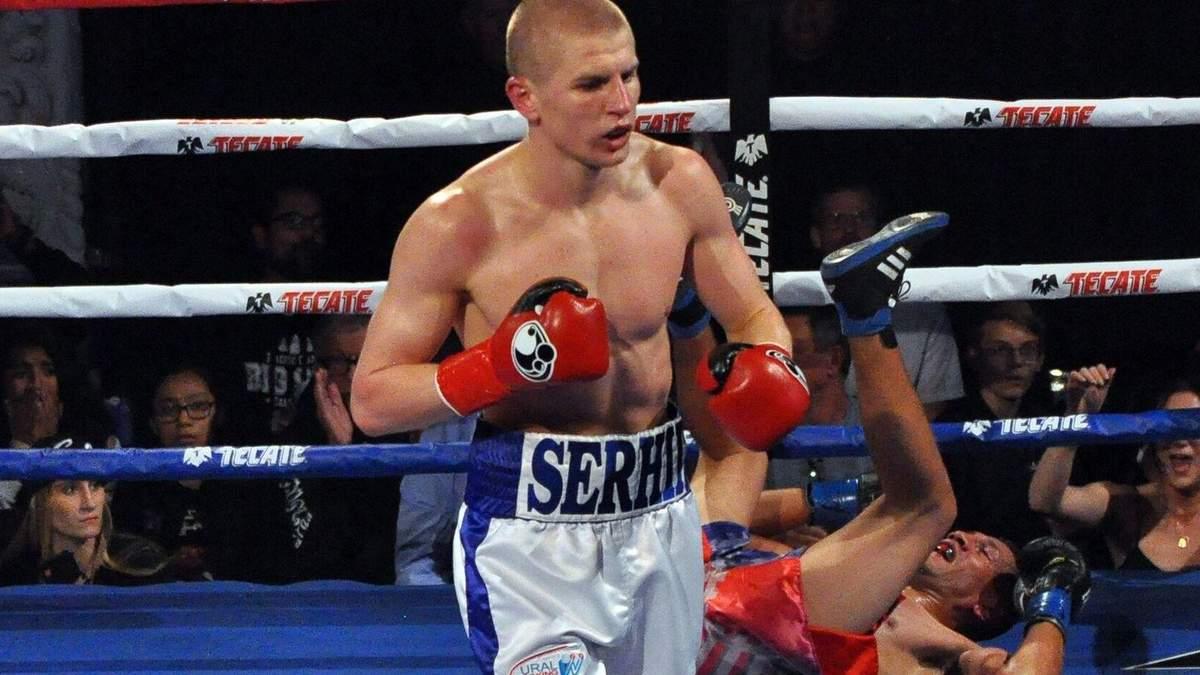 Украинец Богачук мощным нокаутом одержал юбилейную победу на ринге: видео
