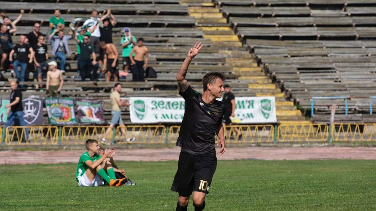 Президент винницкой Нивы забил эффектный гол в ворота львовских Карпат: видео