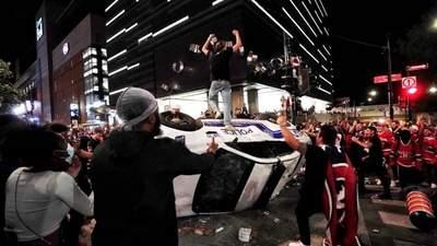 Розгромлені магазини й авто: у Монреалі відсвяткували вихід команди у фінал Кубка Стенлі – відео