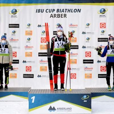 Биатлонистка Екатерина Бех выиграла бронзу в короткой индивидуальной гонке Кубка IBU