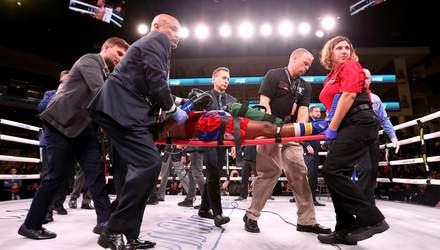 Американского боксера на носилках вынесли с ринга перед боем Усика с Уизерспуном: фото