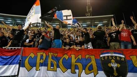 Сербію покарали матчем без глядачів у відборі на Євро-2020 через дії фанатів