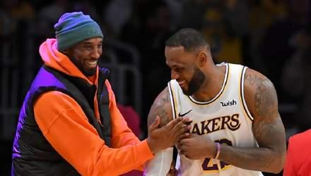 ЛеБрон Джеймс зворушливо присвятив перемогу в НБА загиблому Браянту: фото
