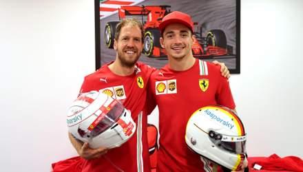 Феттель залишив особливе послання Леклеру після останньої гонки за Ferrari