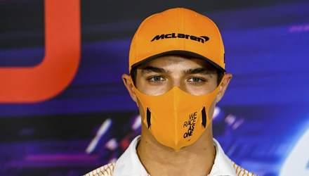 Пілот McLaren Ландо Норріс заразився COVID-19
