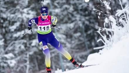 """Перший подіум на дорослому рівні: біатлоністка Кривонос здобула """"срібло"""" у Словаччині"""