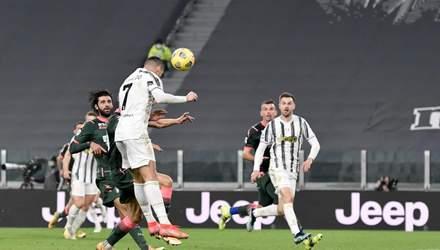 Дубль Роналду вивів Ювентус на третє місце чемпіонату Італії: відео