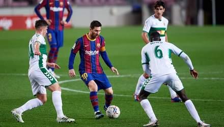 Барселона благодаря дублю Месси разбила аутсайдера Ла Лиги: видео