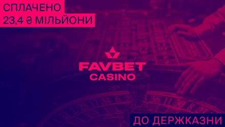 FAVBET сплатив 23,4 мільйона гривень до держбюджету за ліцензію