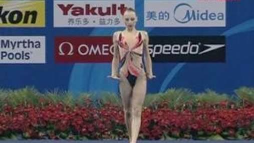 Лоліта Ананасова посіла шосте місце у синхронному плаванні
