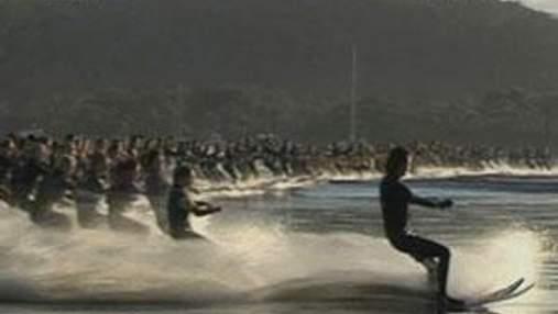 145 водных лыжников устанавливали новый рекорд на воде