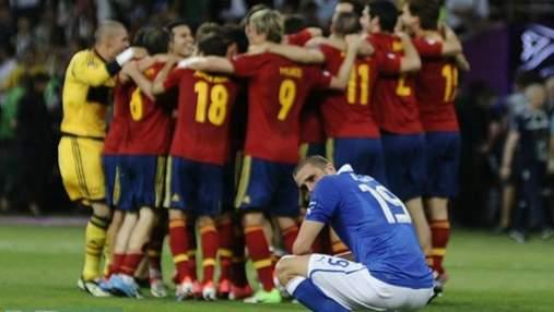 Вчора збірна Іспанії з рахунком 4:0 перемогла італійців (ФОТО)
