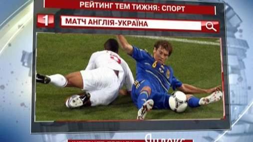 Самое популярное спортивное событие в Yandex - матч сборных Украины и Англии