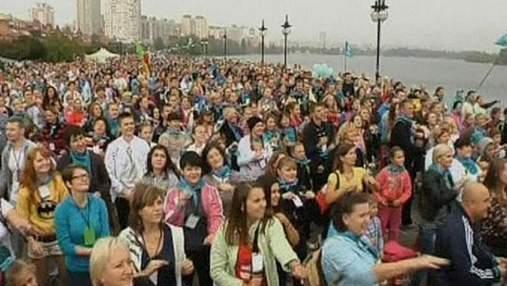 В Киеве более 12 тысяч человек вышли на утреннюю гимнастику
