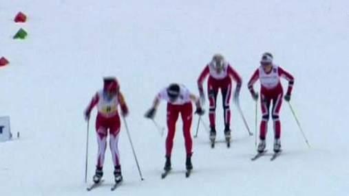 Четвірка норвезьких лижниць не мала конкуренції у естафеті