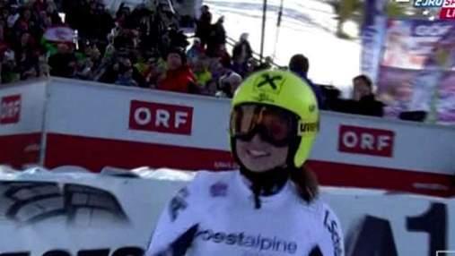 Гірські лижі. Гергль стала найстаршою тріумфаторкою швидкісного спуску