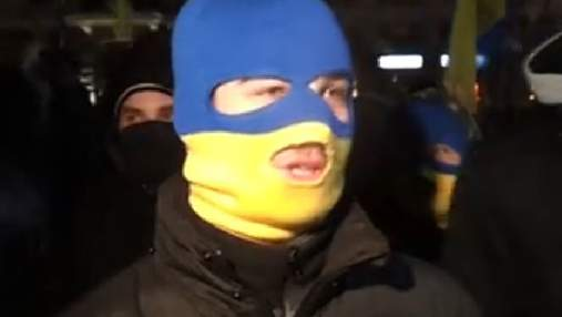 Харківські ультрас оберігали ходу Євромайдану (Відео)