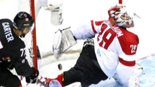 Хоккей. Хет-трик Джеффа Картера помог канадцам разгромить австрийцев
