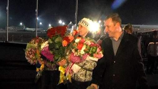 Украинские спортсмены вернулись на Родину