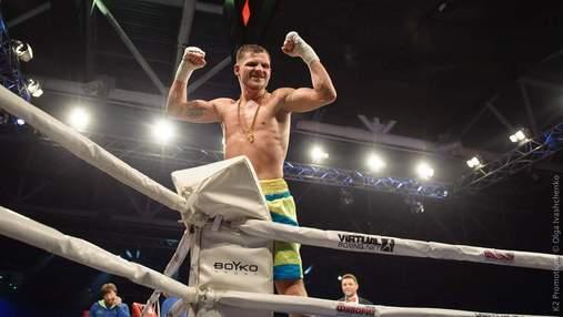 Український боксер здобув чергову впевнену професійну перемогу