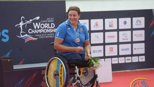 Украинка стала второй на чемпионате мира по параканое, выиграв с разницей в 0,01 секунды: видео