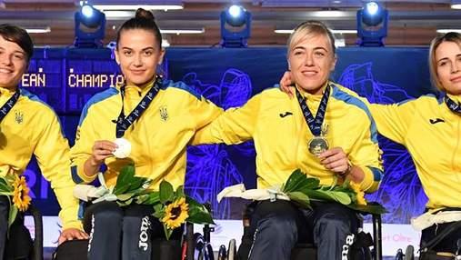 Украинские паралимпийцы стали вице-чемпионами Европы по фехтованию