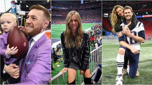 Жизель Бюндхен, Жосефін Скрівер, Конор Мак-Грегор та інші зірки на Super Bowl-2019: яскраві фото