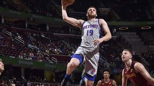 """Михайлюк помог """"Детройту"""" обыграть """"Кливленд"""" в матче НБА"""