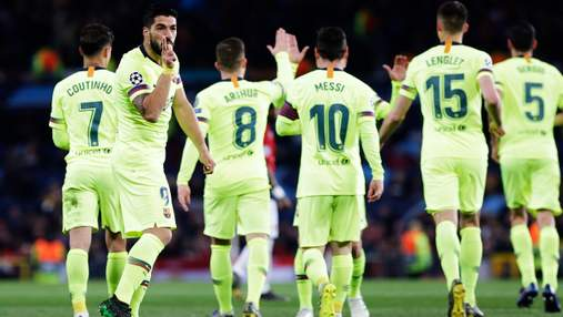 """""""Барселона"""" мінімально перемогла """"Манчестер Юнайтед"""" на виїзді: відео"""