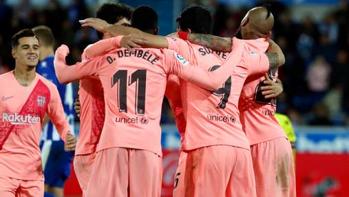 """""""Барселона"""" без проблем обіграла на виїзді """"Алавес"""" та наблизилася до чемпіонства: відео"""