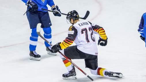 Германия сенсационно победила финнов на ЧМ с хоккея, чехи дожали Швейцарию: видео