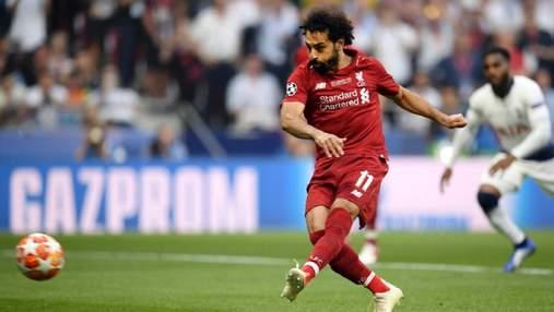 Салах забил второй самый быстрый гол в финале Лиги чемпионов: видео