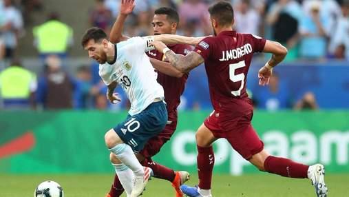 Голубь отнял мяч у игрока Аргентины во время матча Кубка Америки: смешное видео